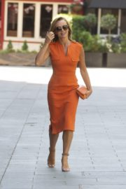 Amanda Holden in Orange Outfit at Global Radio Studios in London 2020/06/01 6