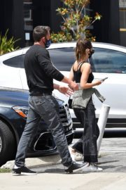 Ana de Armas and Ben Affleck at Brentwood Country Mart 06/20/2020 9