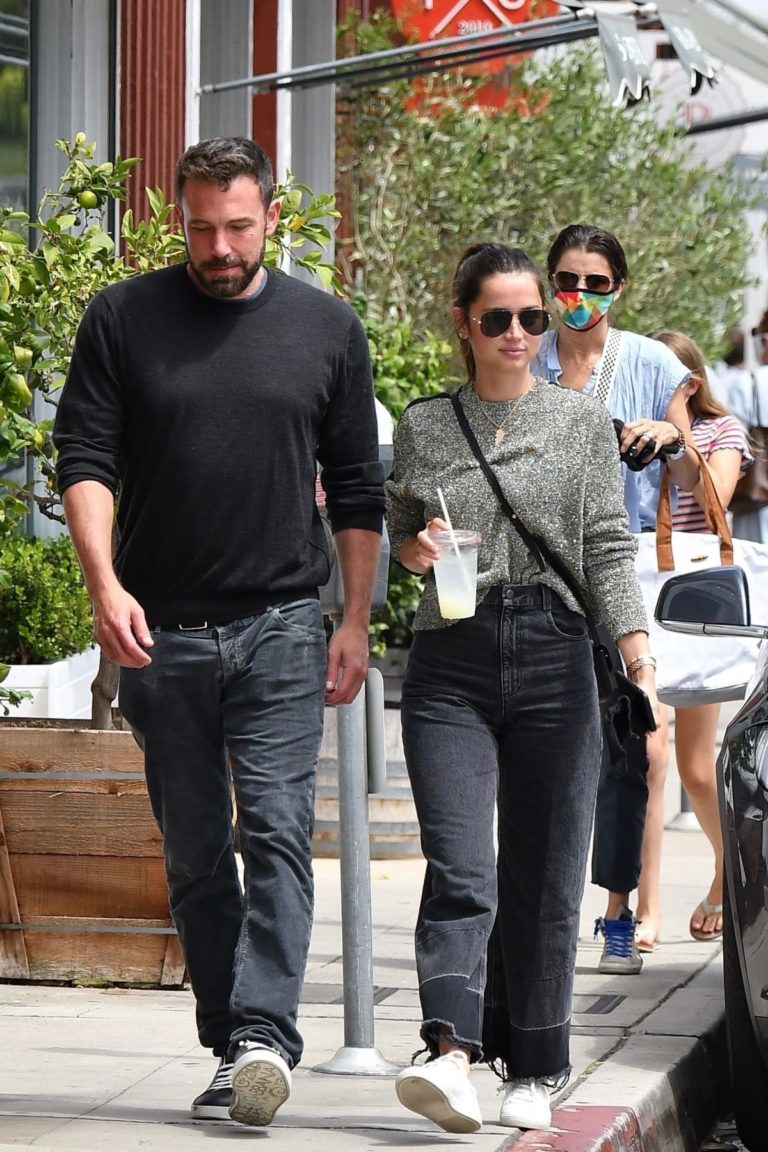 Ana de Armas and Ben Affleck at Brentwood Country Mart 06/20/2020 10