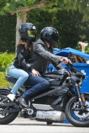 Ana de Armas and Ben Affleck on His Motorcycle Out in Los Angeles 2020/06/02 2