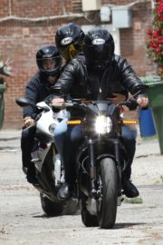 Ana de Armas and Ben Affleck on His Motorcycle Out in Los Angeles 2020/06/02 3