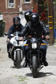 Ana de Armas and Ben Affleck on His Motorcycle Out in Los Angeles 2020/06/02 6