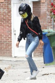 Ana de Armas and Ben Affleck on His Motorcycle Out in Los Angeles 2020/06/02 9