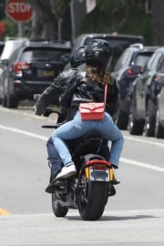 Ana de Armas and Ben Affleck on His Motorcycle Out in Los Angeles 2020/06/02 10