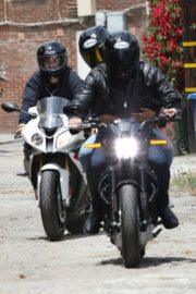 Ana de Armas and Ben Affleck on His Motorcycle Out in Los Angeles 2020/06/02 11