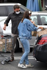 Ana de Armas in Double Denim Out Shopping in Los Angeles 2020/06/05 2