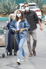 Ana de Armas in Double Denim Out Shopping in Los Angeles 2020/06/05 4
