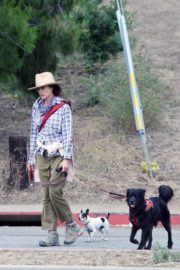 Andie MacDowell Out Hiking with Her Dogs in Los Angeles 2020/06/11 1
