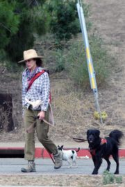 Andie MacDowell Out Hiking with Her Dogs in Los Angeles 2020/06/11 2