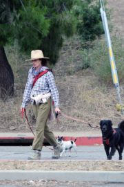 Andie MacDowell Out Hiking with Her Dogs in Los Angeles 2020/06/11 6