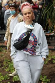 Anne-Marie at Black Lives Matter Protest in London 2020/06/03 6