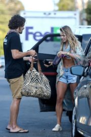 Ashley Hart in Denim Shorts Out in Los Angeles 2020/06/09 9