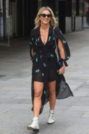 Ashley Roberts flashes her legs outside Heart FM Radio in London 2020/06/04 4