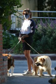 Aubrey Plaza Out with Her Dogs in Los Feliz 2020/06/11 1