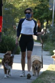 Aubrey Plaza Out with Her Dogs in Los Feliz 2020/06/11 4