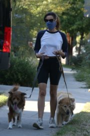 Aubrey Plaza Out with Her Dogs in Los Feliz 2020/06/11 14
