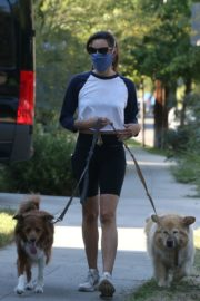 Aubrey Plaza Out with Her Dogs in Los Feliz 2020/06/11 15