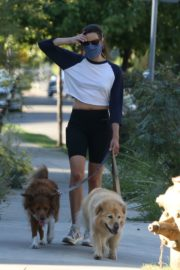 Aubrey Plaza Out with Her Dogs in Los Feliz 2020/06/11 16
