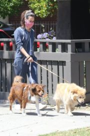 Aubrey Plaza Out with Her Dogs in Los Feliz 2020/06/14 4