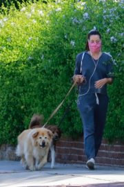 Aubrey Plaza Out with Her Dogs in Los Feliz 2020/06/14 9