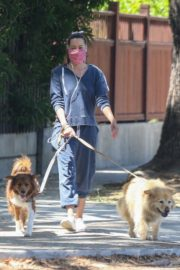 Aubrey Plaza Out with Her Dogs in Los Feliz 2020/06/14 10