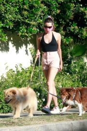 Aubrey Plaza Walks Her Dogs Out in Los Feliz 2020/06/10 7