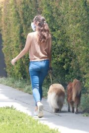 Aubrey Plaza Walks with Her Dogs Out in Los Feliz 2020/06/06 8