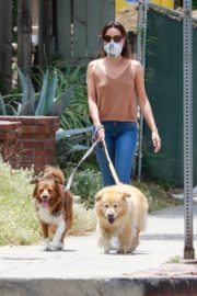 Aubrey Plaza Walks with Her Dogs Out in Los Feliz 2020/06/06 10