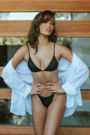 Audreyana Michelle in Black Bikini Photoshoot for Gooseberry Intimates, May 2020 Issue 4