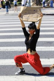 Bai Ling at Black Lives Matter Protest in Studio City 2020/06/03 3