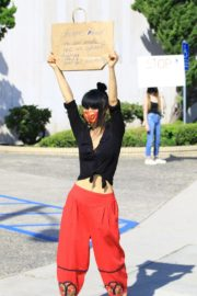 Bai Ling at Black Lives Matter Protest in Studio City 2020/06/03 4