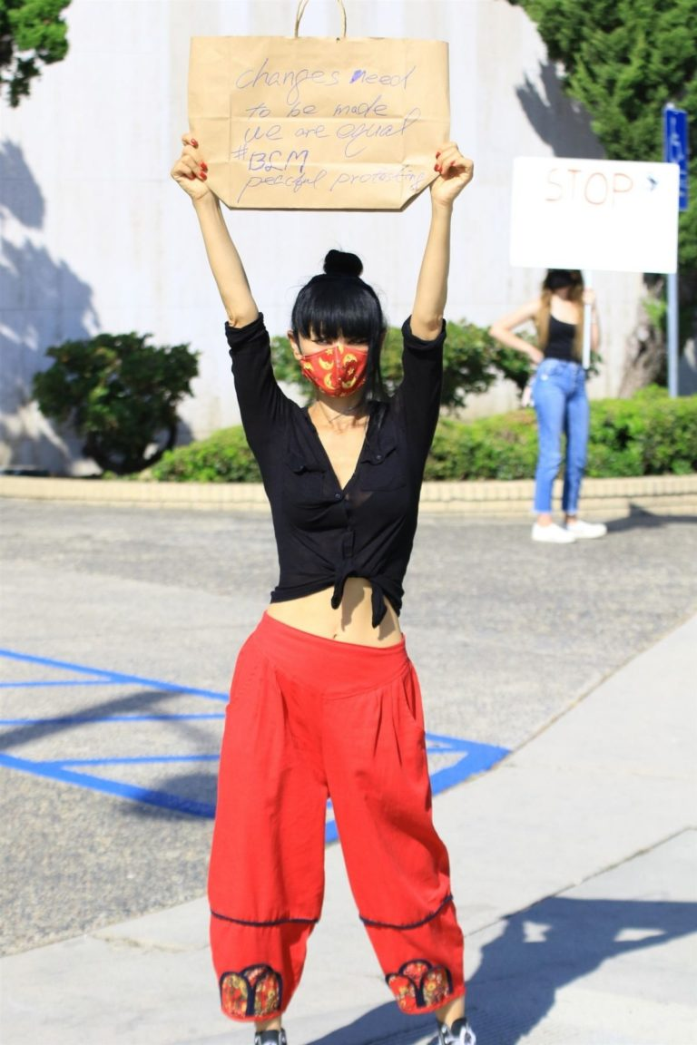 Bai Ling at Black Lives Matter Protest in Studio City 2020/06/03 7