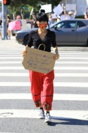 Bai Ling at Black Lives Matter Protest in Studio City 2020/06/03 8