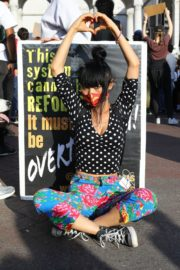 Bai Ling at George Floyd During Black Lives Matter Protest in Los Angeles 2020/06/04 9