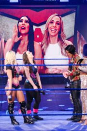 Bayley, Sasha Banks, Alexa Bliss and Nikki Cross at WWE Smackdown in Orlando 2020/06/12 3