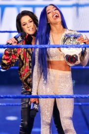 Bayley, Sasha Banks, Alexa Bliss and Nikki Cross at WWE Smackdown in Orlando 2020/06/12 10