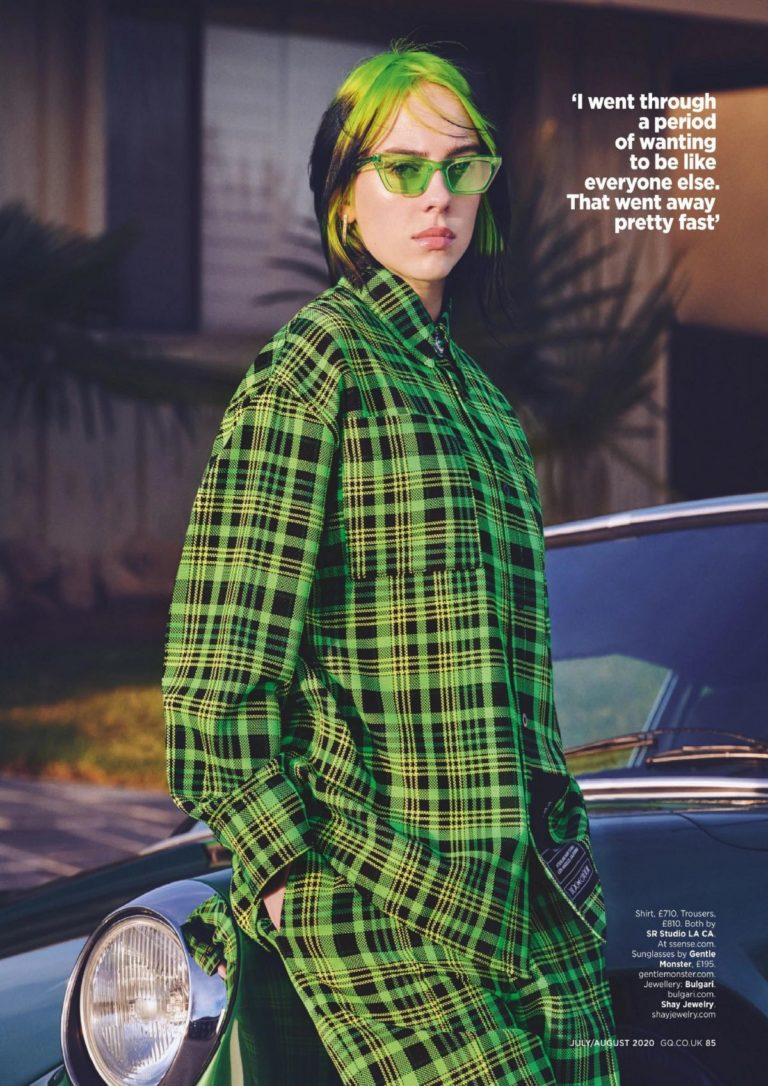 Billie Eilish in GQ Magazine, UK July 2020 Issue 8