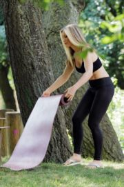 Caprice Bourret Live Streaming Her Online Yoga Classes From a Park in London 06/13 2