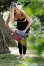 Caprice Bourret Live Streaming Her Online Yoga Classes From a Park in London 06/13 10