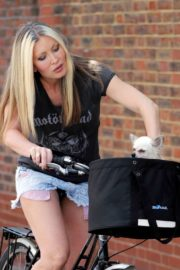 Caprice Bourret Out Riding a Bike in London 2020/06/02 1