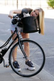 Caprice Bourret Out Riding a Bike in London 2020/06/02 2