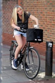 Caprice Bourret Out Riding a Bike in London 2020/06/02 3