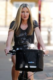 Caprice Bourret Out Riding a Bike in London 2020/06/02 7