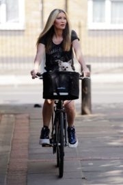 Caprice Bourret Out Riding a Bike in London 2020/06/02 9