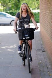 Caprice Bourret Out Riding a Bike in London 2020/06/02 10