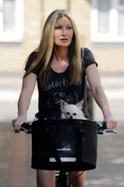Caprice Bourret Out Riding a Bike in London 2020/06/02 11