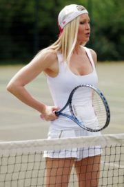 Caprice Bourret Playing Tennis in London 2020/06/05 13