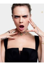 Cara Delevingne for Rose de Vents Jewelry Collection Campaign for Dior 2020 1