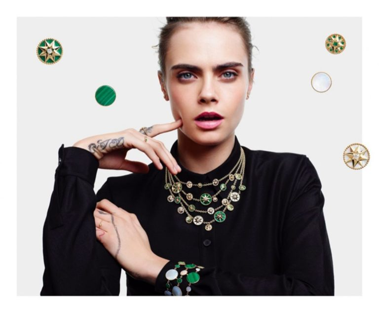 Cara Delevingne for Rose de Vents Jewelry Collection Campaign for Dior 2020 5