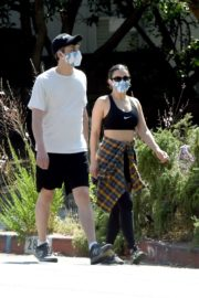 Charli XCX and Huck Kwong Wearing Masks Out in Los Angeles 2020/06/04 1
